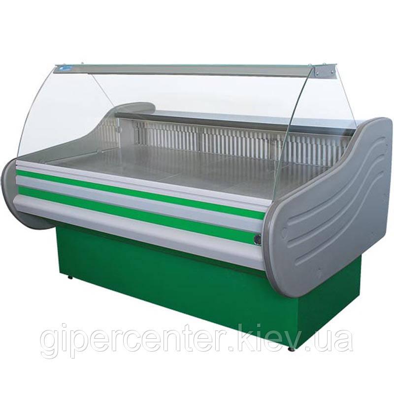 Морозильная витрина Айстермо ВХН АРКТИКА 1.8 (-15…-18˚С, 1800х1160х1250 мм, гнутое стекло)