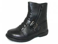 Детские ботинки, 32-37р, Шалунишка, черный, унисекс, 5847