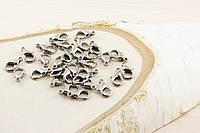 Карабин темное серебро (14мм) (10штук)(товар при заказе от 500грн)