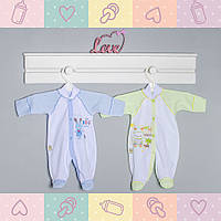 Комбинезон-Человечек для Мальчика, новорожденным от 30-35 недель, Хлопок-Ажур летний,В наличии 44,50 Рост 50, Разные цвета