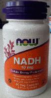 Никотинамид-Аденин-Динуклеотид, Now Foods, NADH, 10mg, 60 vcaps