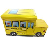 Детский пуф Автобус 55*26*31 см желтый УкрОселя