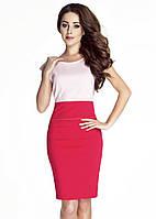 Летнее женское платье малинового цвета без рукава. Модель 6061, коллекция весна-лето 2016.