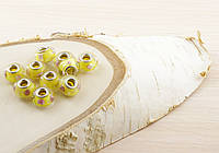 Бусина пандора стекло желтая с рисунком (16х12мм)(товар при заказе от 500грн)