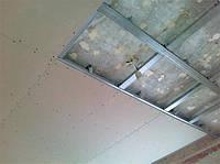 Монтаж одноуровневый потолок из гипсокартона в Херсоне