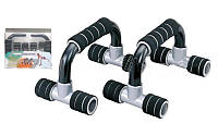 Упоры для отжиманий (2шт) PS B-920 PUSH-UP BAR (металл, пластик, ручка неопрен,р-р 14x26x14см)