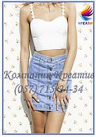 Джинсовые юбки короткие (от 50 шт.), фото 1