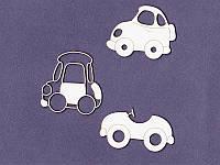 Чипборд набор от студии Про Свет — Детские автомобильчики, 3 элемента