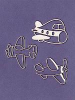 Чипборд набор от студии Про Свет — Детские самолётики, 3 элемента