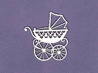 Чипборд от студии ПроСвет - Детская коляска большая, 1 шт