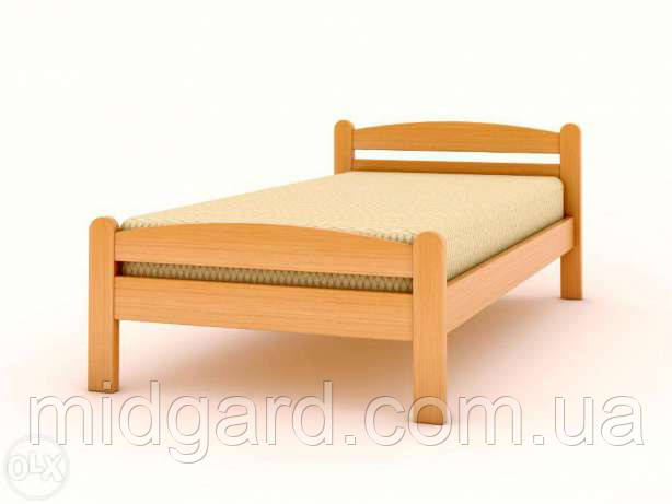 """Односпальная кровать """"Вега""""  массив дерева 190*80, фото 2"""