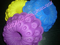 Форма силиконовая Цветок двухъярусный со втулкой, фото 1