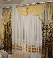 Готовые шторы на окно №234 для зала, спальни, детской (С.У.)
