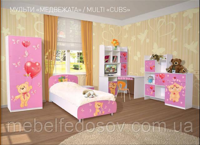 мебель для детской комнаты мульти с рисунком мишки