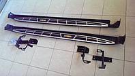 Пороги боковые на Toyota RAV4 - Cayenne style (2013-...), фото 1