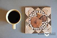 Подставка под чашку из натурального дерева ручной работы, фото 1