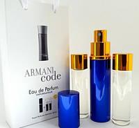 Мужской мини парфюм Giorgio Armani Code pour Homme (Джорджио Армани Код пур Хом) 3*15 мл