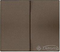 Legrand лицевая панель Legrand Galea Life для выключателя 2 пост., dark bronze (771212)