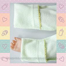 Комбинезон-Человечек для Девочки, новорожденным от 30-35 недель, Хлопок-Ажур летний,В наличии 44,50 Рост, фото 3