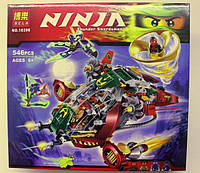 Детский конструктор для мальчиков Ninja 10398 «Летательный аппарат Rex Ронина», 546 элементов/фигурок