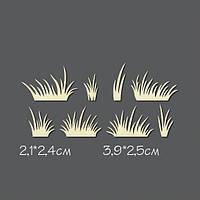Чипборд Katrin-craft —  Трава луговая, 8 элементов