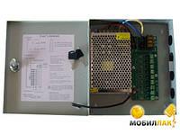 Блок питания BOX 18015/12V-15А, импульсный металлический блок питания для систем видеонаблюдения