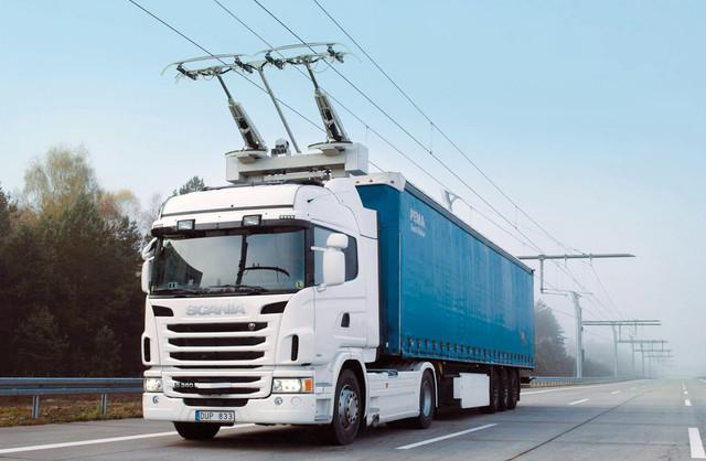 элекрические грузовики скания