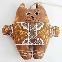 Кофейный кот в цветах. Украинский сувенир.