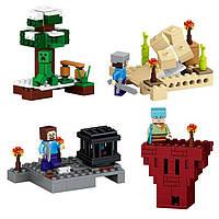 Конструктор My World 79159, 4 набора в ассортименте, 52/57/60/58 деталей, фигурки
