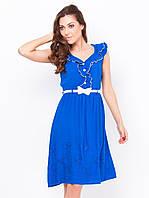 Стильное летнее женское платье белого прошва р.44,46,48