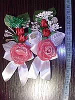 Свадебная бутоньерка № ДМ-02 (красная)