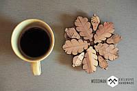 Подставка под чашку из натурального дерева ручной работы