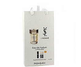 Yves Saint Laurent L`homme edp 3x15ml - Trio Bag