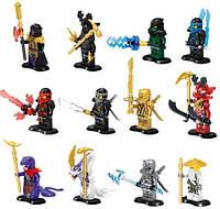 Детский конструктор для мальчиков от 6 лет Lele Ninja 79257: 12 фигурок с оружием, пластик