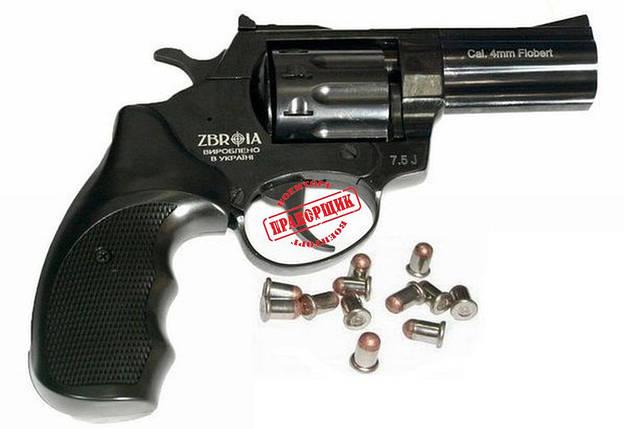 """Револьвер Флобера PROFI 3"""" черный (пластик), фото 2"""