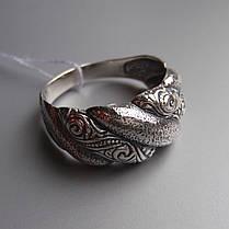 Оригинальное серебряное кольцо с орнаментом, фото 2