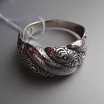 Оригінальне срібне кільце з орнаментом, фото 3