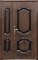Входная металлическая дверь Двери Оптом Нестандарт Полуторные ТР-С 61 бархатный лак 2050*1200