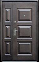Нестандартная входная металлическая дверь Сезон Плюс Тёплый нестандарт 143+молоток / бархатный лак