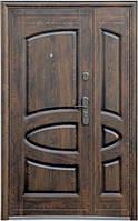 Нестандартная входная металлическая дверь Сезон Плюс Тёплый нестандарт 127+ бархатный лак