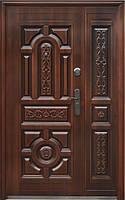 Нестандартная входная металлическая дверь Сезон Плюс Тёплый нестандарт 150+ светлая медь