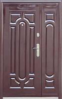 Нестандартная входная металлическая дверь Сезон Плюс Тёплый нестандарт 140+ автолак вишня