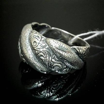 Оригінальне срібне кільце з орнаментом, фото 2