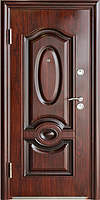Стандартная входная металлическая дверь Сезон Плюс Тёплый стандарт 388+ антивандальный лак 860