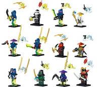 Конструктор для мальчика 6 лет Lele Ninja 79196 Аэроджитцу: 12 фигурок с оружием, светятся в темноте