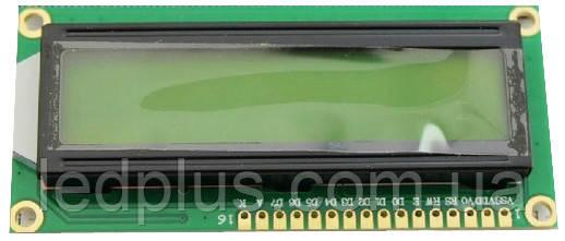 Индикатор ЖКИ 1602A-YG с подсветкой