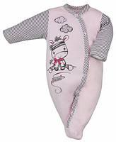 """Человечек для девочки """"Zebra"""", цвет -розовый 74 р."""