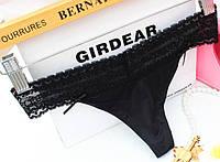 Стринги гипюр Victoria's Secret, черные