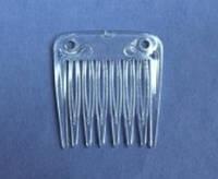 Основа-гребешок маленький, прозрачный пластик, 3,2 см, фото 1