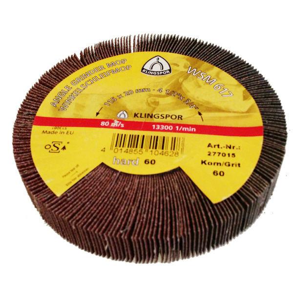 Лепестковый тарельчатый круг Klingspor WSM 617 125X20 P40